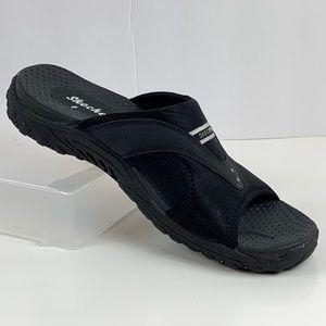 Skechers Black Slip On Sandals Size 9